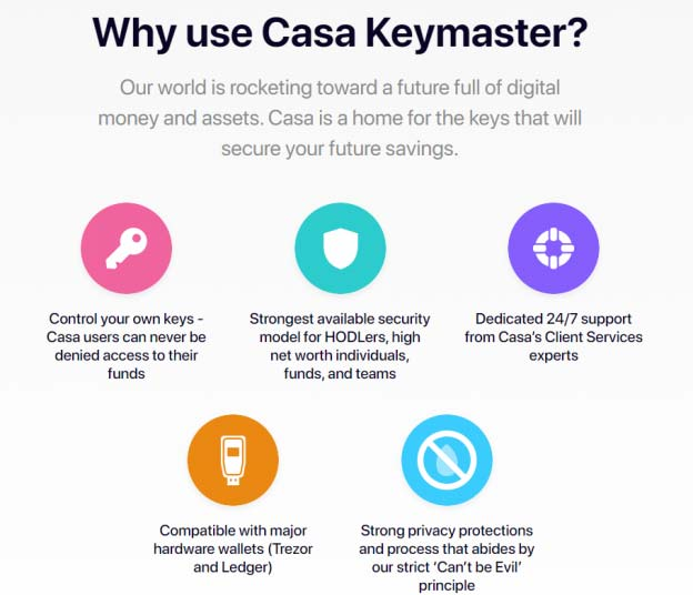 how to use casa keymaster
